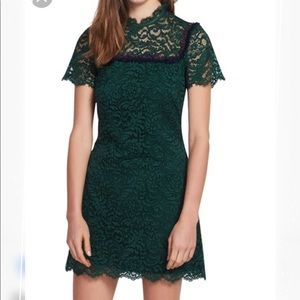 Sandro green lace dress